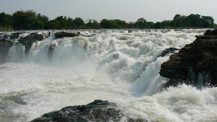Ngonye Falls in westelijk province in Zambia