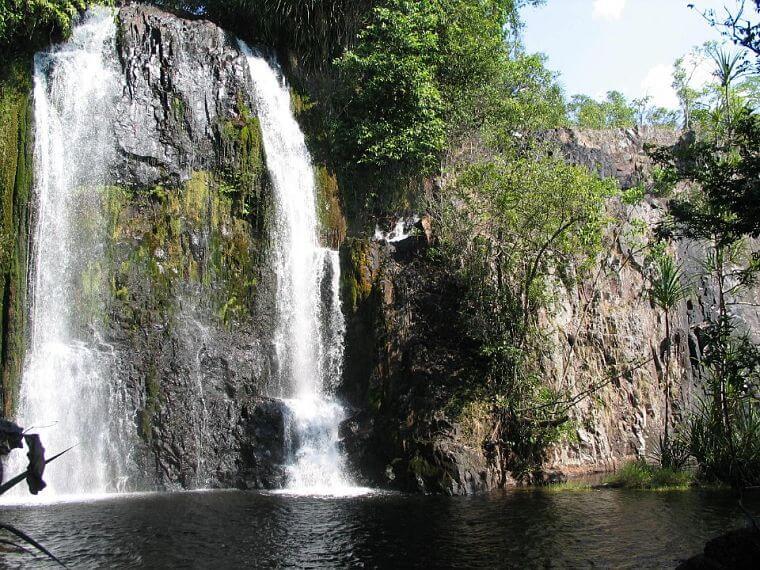 Ntumbachushi Falls in Luapula province in Zambia