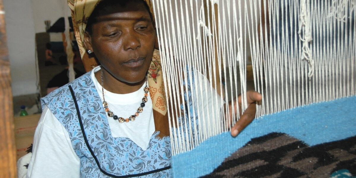 Oodi Weavers lokaal ondernemerschap in Botswana
