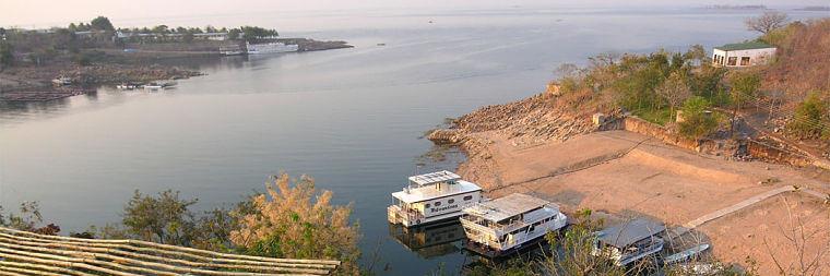 Lake Kariba houseboten bij Siavonga, Zambia