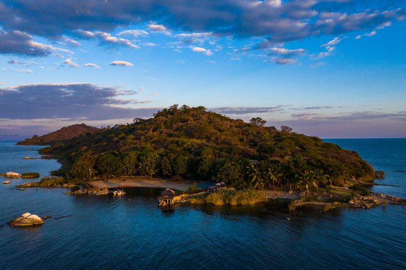 Blue Zebra Island Lodge op Marelli Islands Malawi (© Athira Mohan)