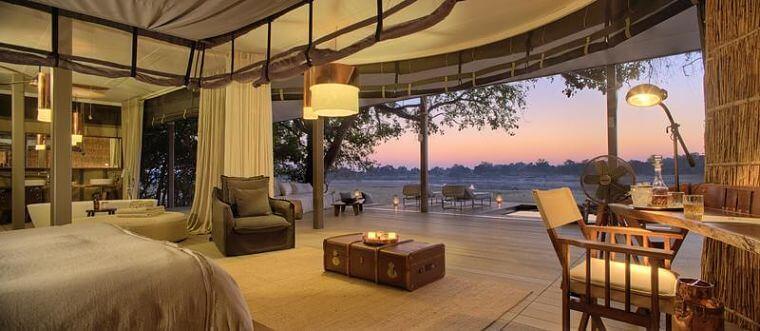 Chinzombo bij South Luangwa National Park Zambia
