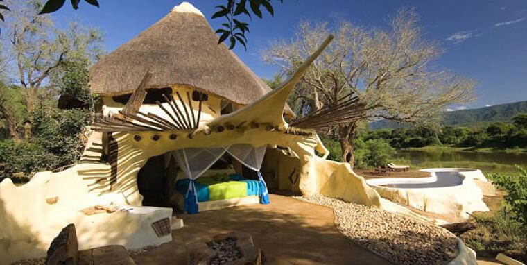 Chongwe River House bij Lower Zambezi National Park Zambia