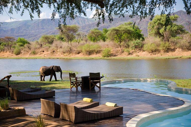 Chongwe River House Zambia karakteristiek uitzicht