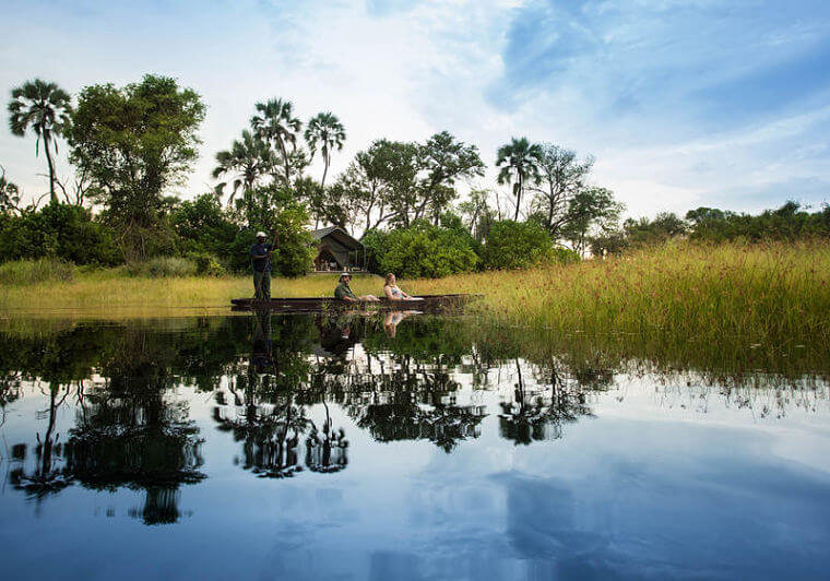 Gomoti Plains Camp Mokoro tocht in Okavango Delta @ Andrew Howard