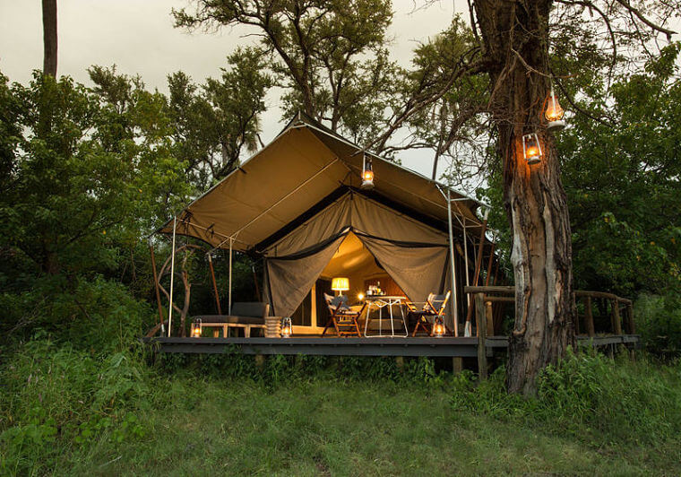 Gomoti Plains Camp Okavango Delta @ Andrew Howard