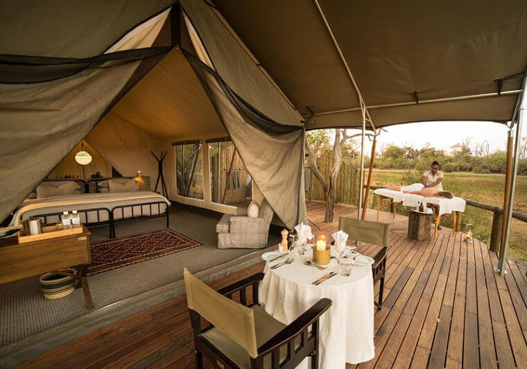 Luxe fly in familie safari Botswana Little Machaba @ Andrew Howard