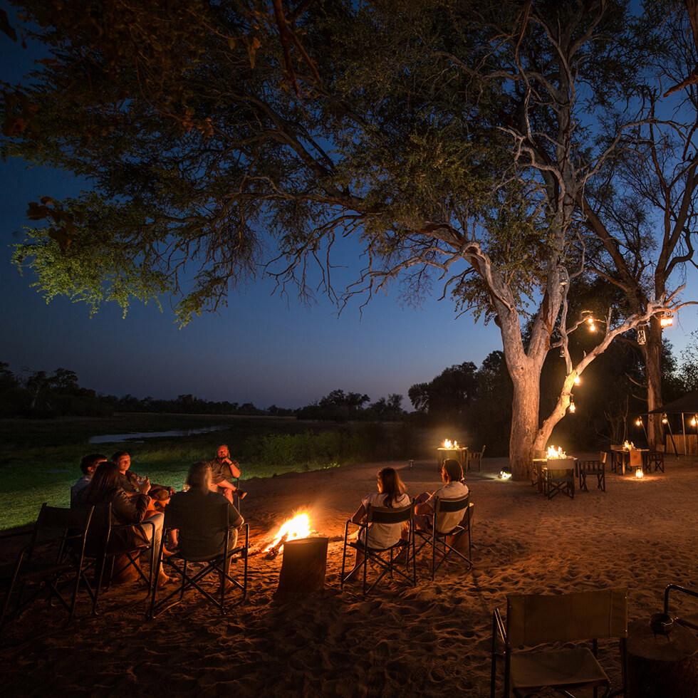 Machaba camp in Khwai Community Area Botswana