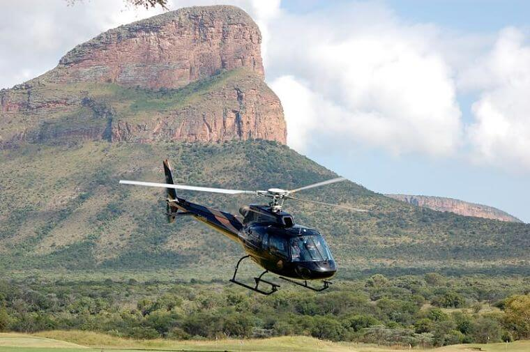 Legend Golf and Safari Resort helicopter Zuid-Afrika
