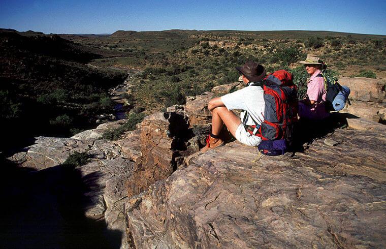 Noord Kaap wandelaars op hiking trail Zuid-Afrika