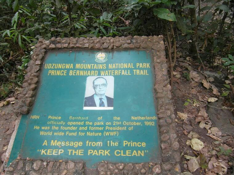 Prins Bernhard watervallen Udzungwa Mountains National Park
