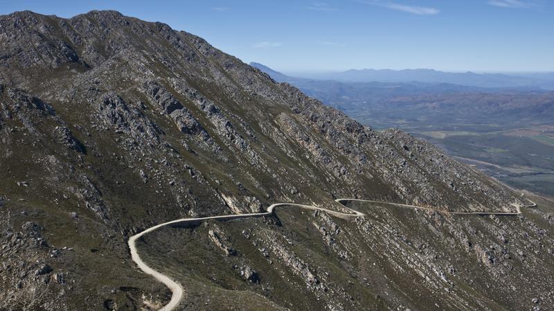 Route 62 door Klein Karoo in Zuid-Afrika