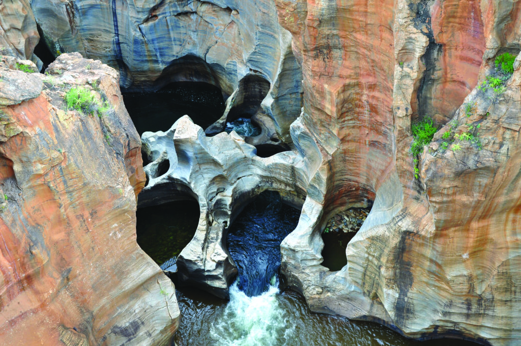 The Bourke's Luck Potholes Panorama route Zuid-Afrika