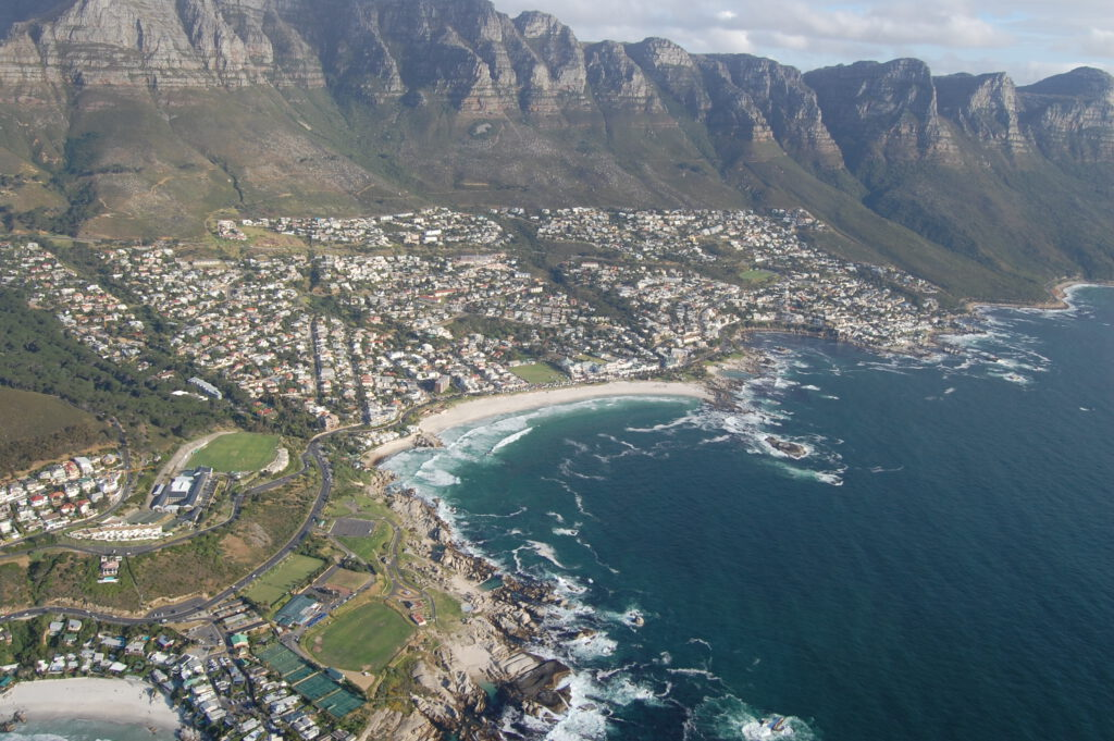 Uitzicht op The Cape Town City Bowl Zuid-Afrika
