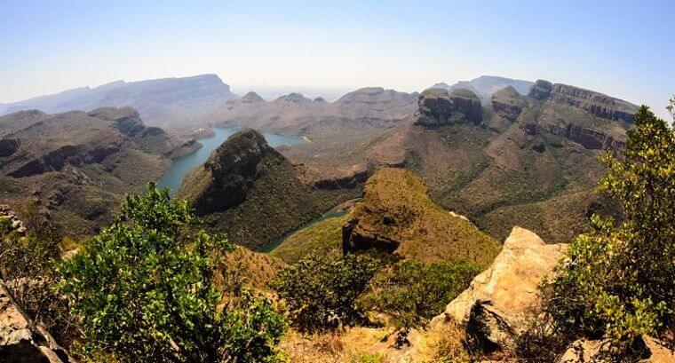Uitzicht vanaf de Panorama Route bij Hazyview Zuid-Afrika
