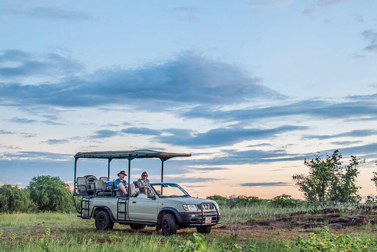 Game drive in Matusadona National Park Zimbabwe