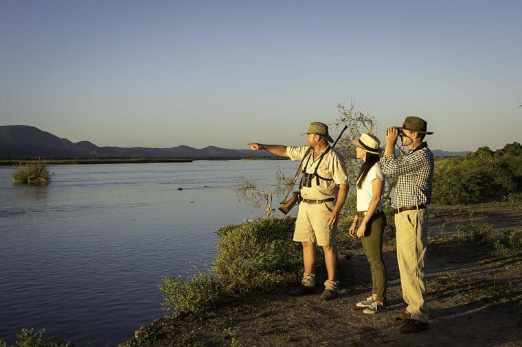 Wandel safari Zambezi rivier Mana Pools Zimbabwe