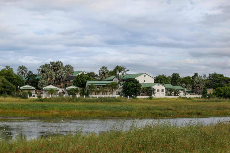 Maun Lodge aan Thamalakane rivier Botswana