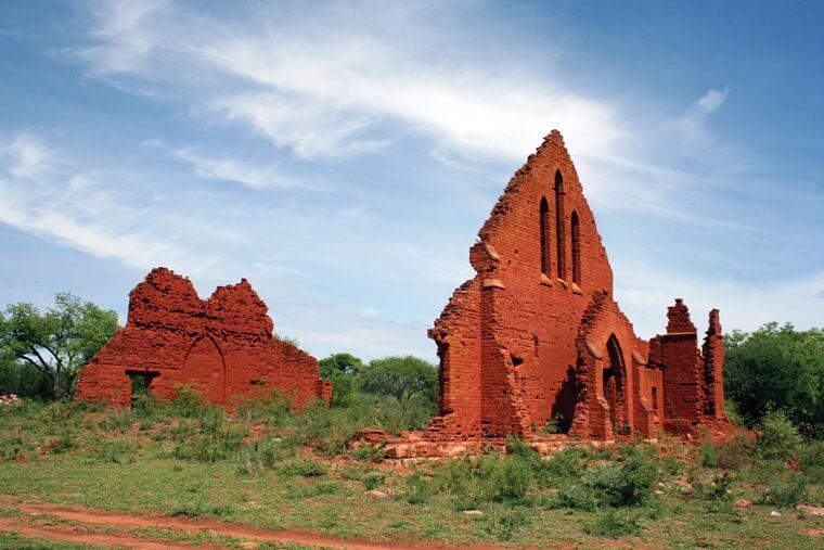 Old Palapye ruïne in Botswana