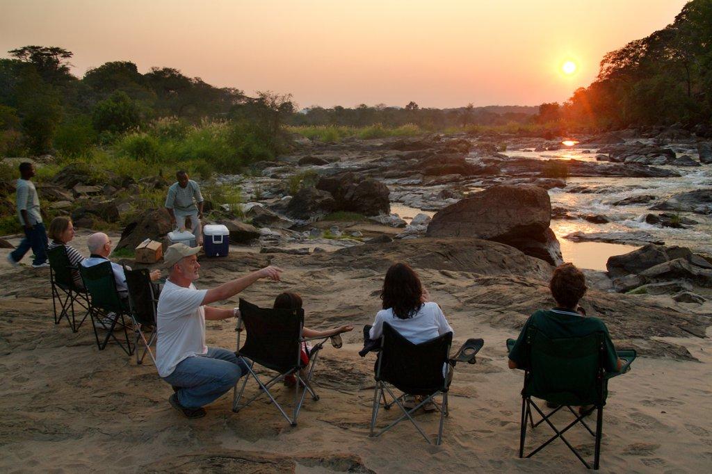 Sundowner in Nkhotakota Wildlife Reserve Malawi