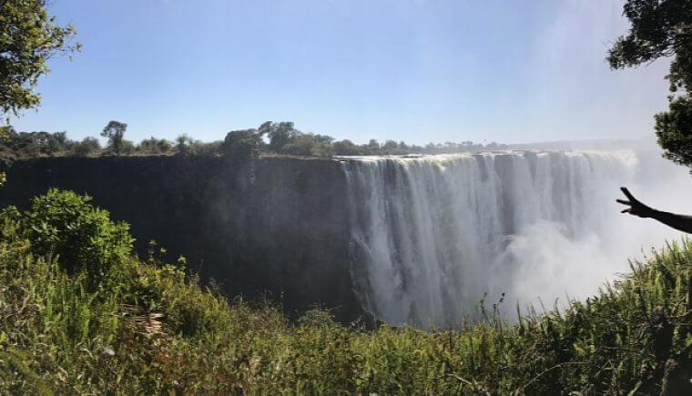 Victoria_watervallen_vanuit_Kasane_Botswana