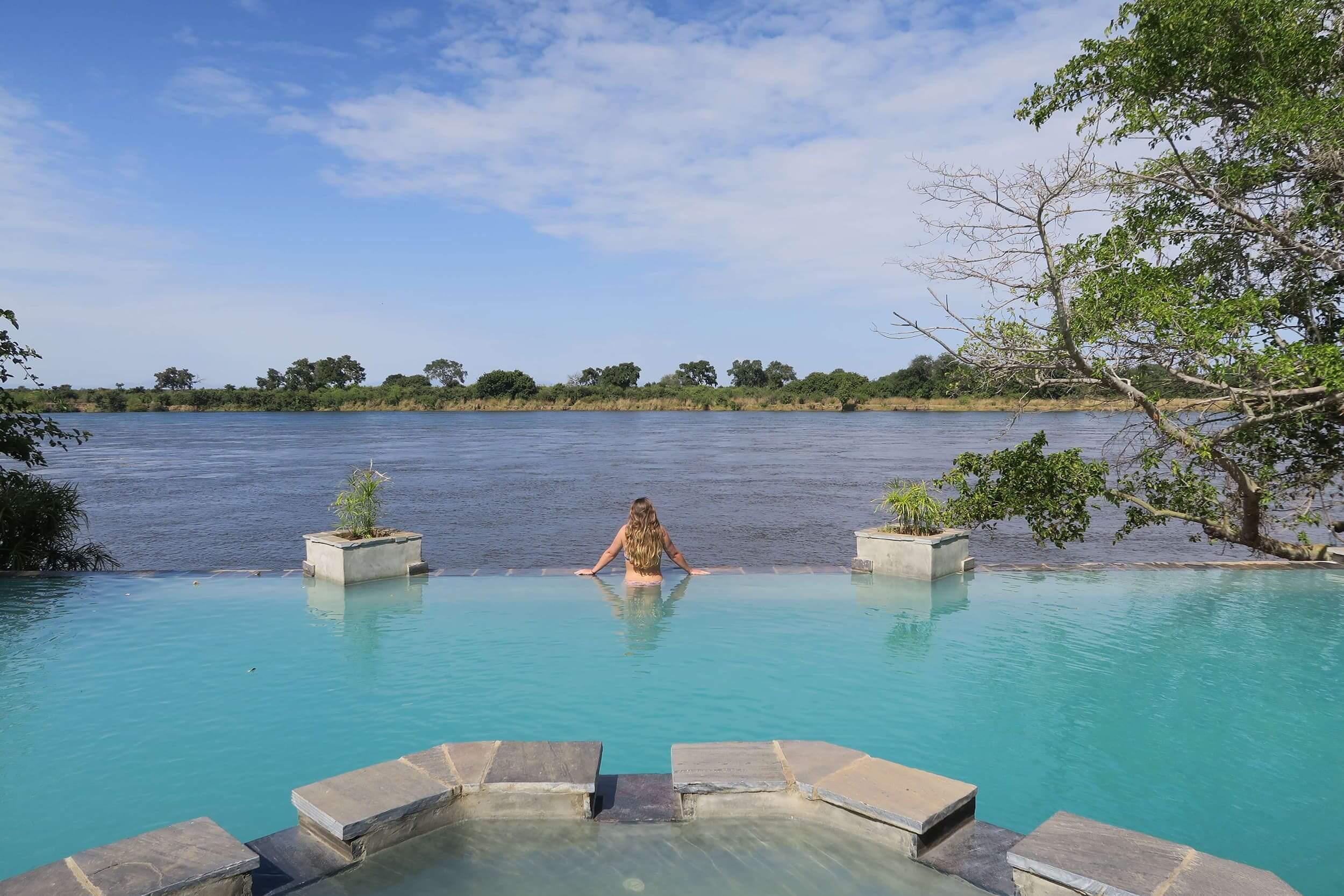 Familie Blans op safari in Lower Zambezi National Park Zambia