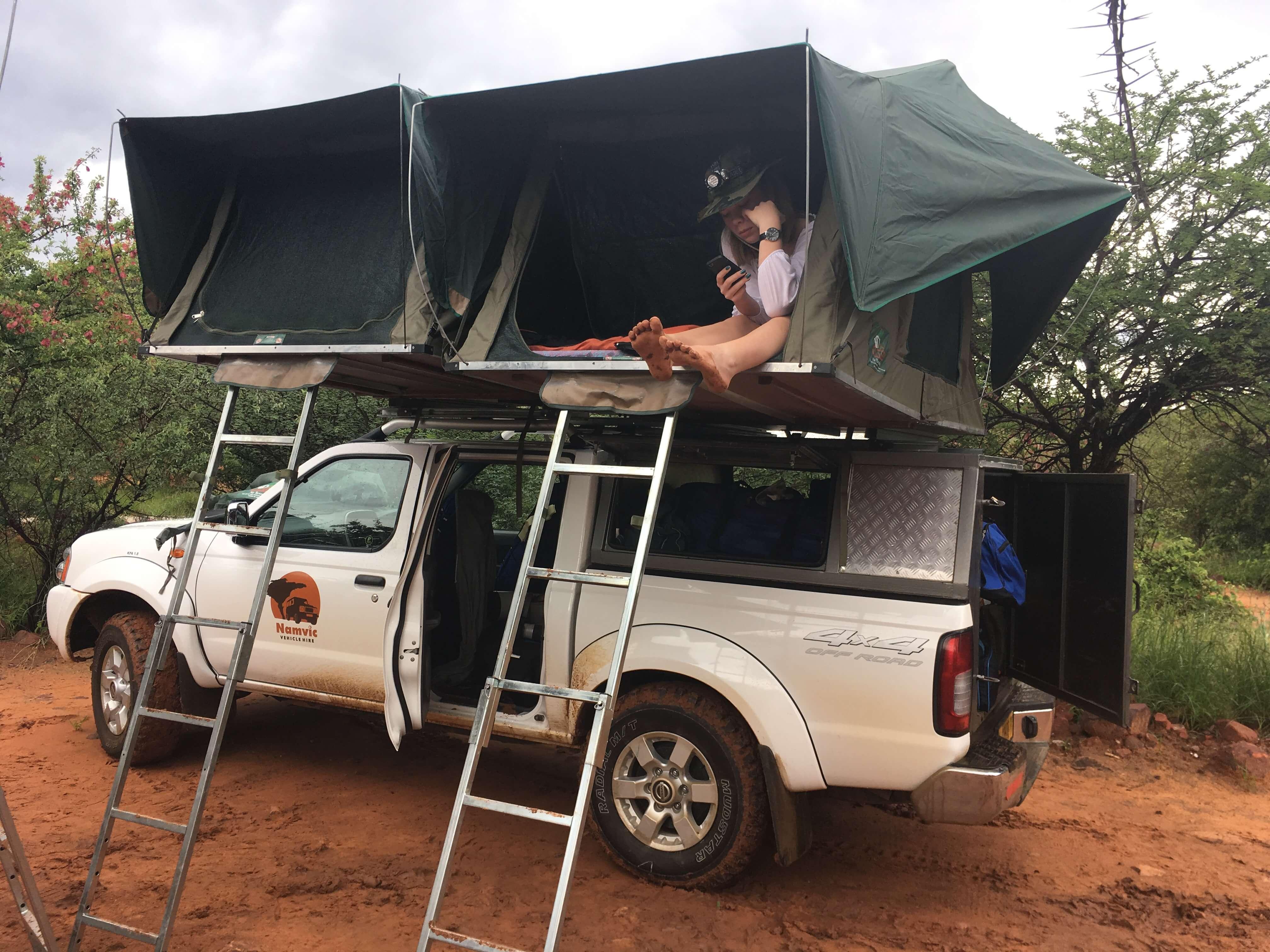 Familie Prinsze op safari in Namibië