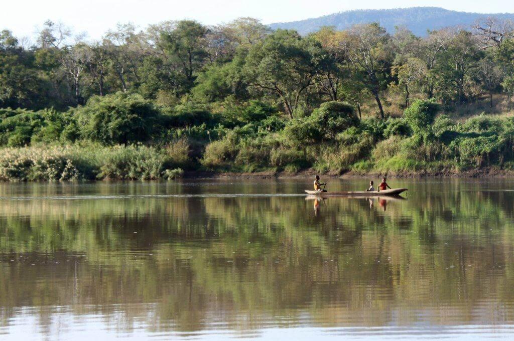 Kano's op Zambezi rivier Zambia