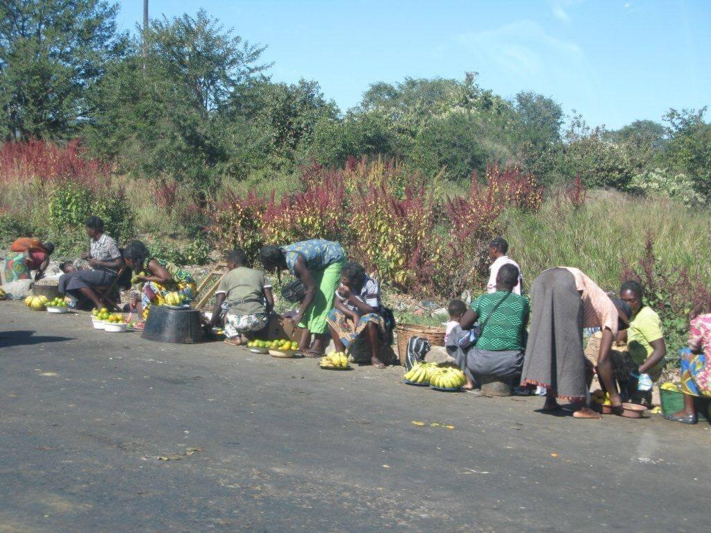 Langs de weg in Zambia
