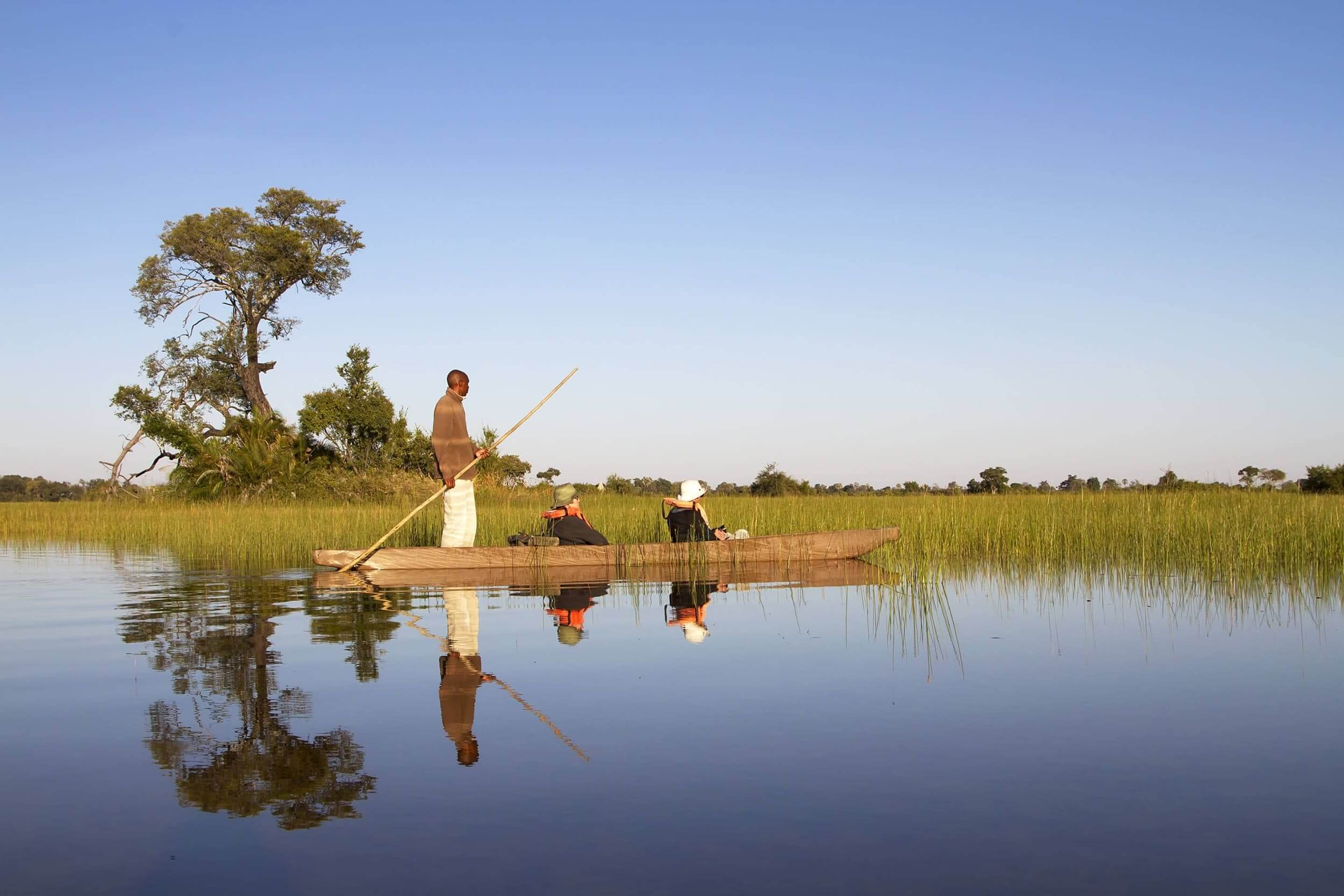 Mokoro tocht in Okavango Delta Botswana