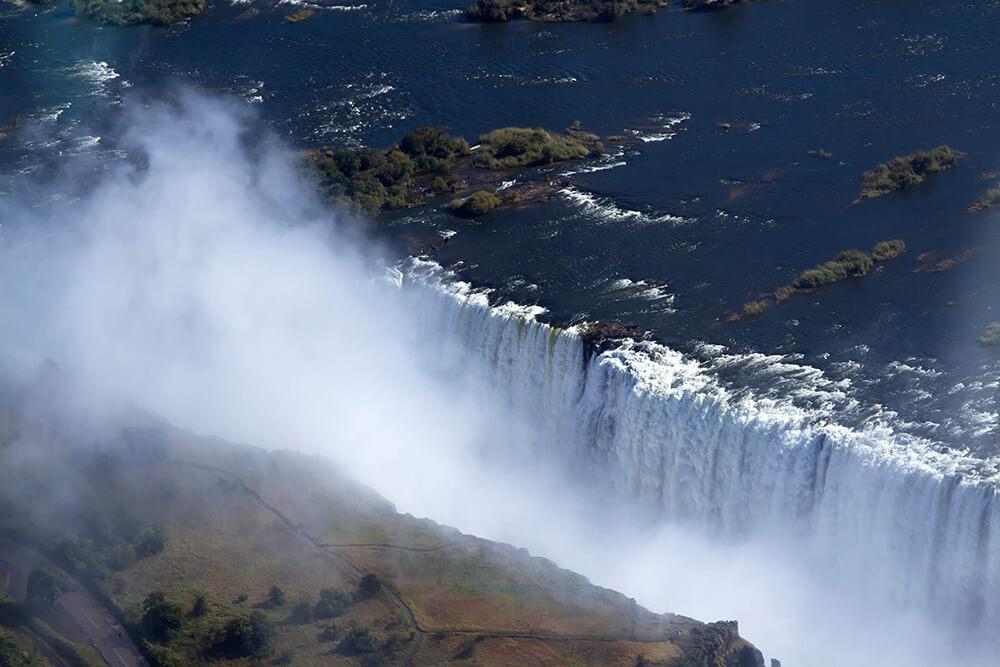 Victoria watervallen vanuit de lucht Zimbabwe