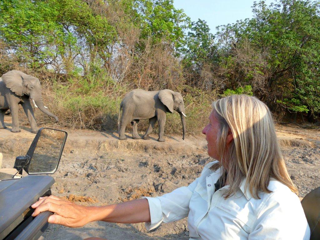 Linda tijdens fotosafari in South Luangwa National Park Zambia
