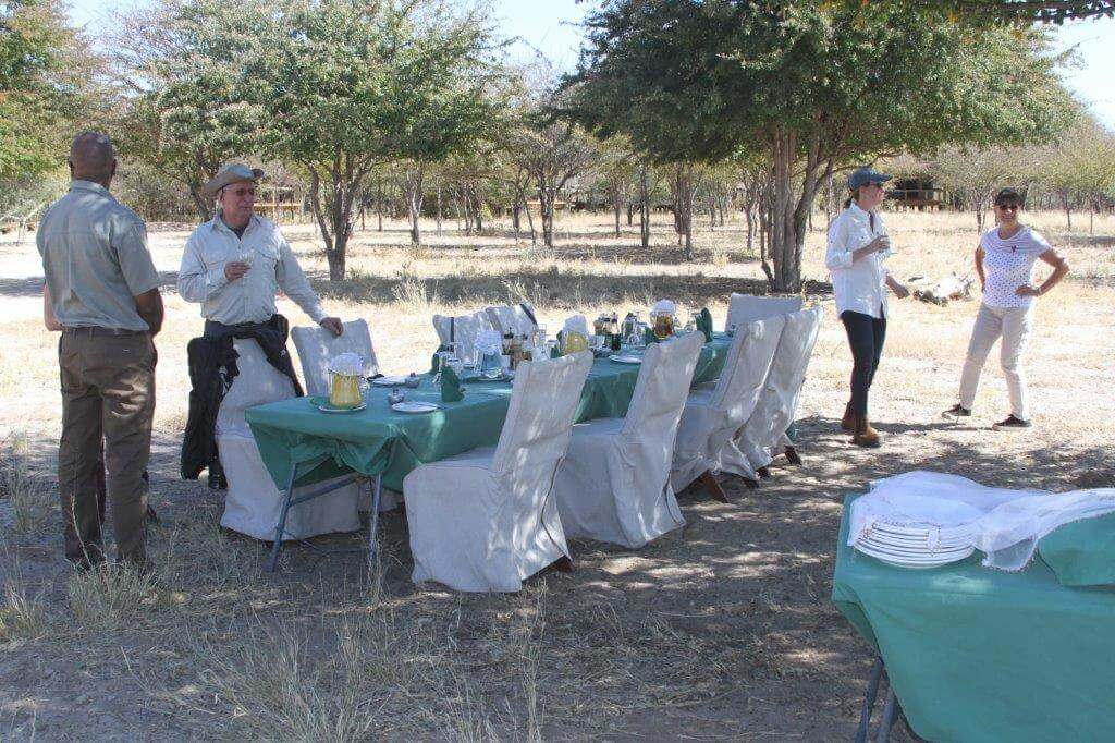 Bush diner in Botswana