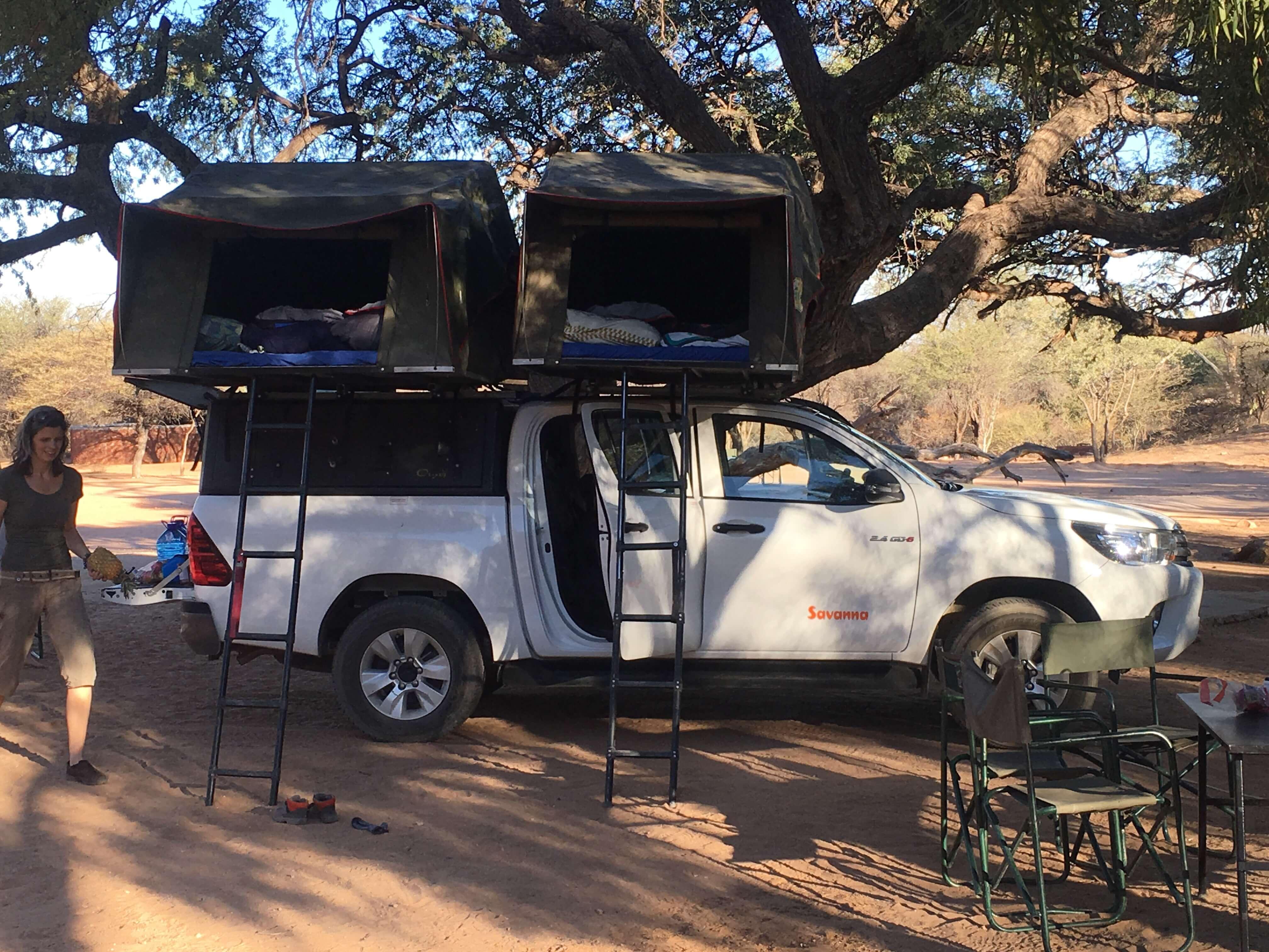 Familie van der Kolk in Namibië