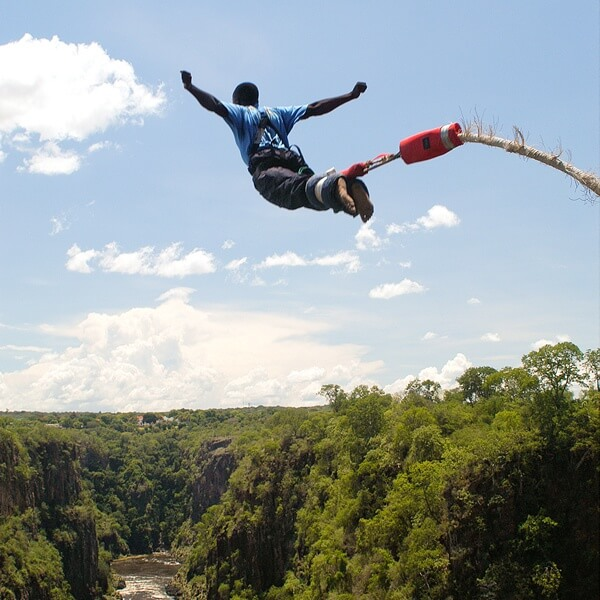 Victoria watervallen - Bungee jumping