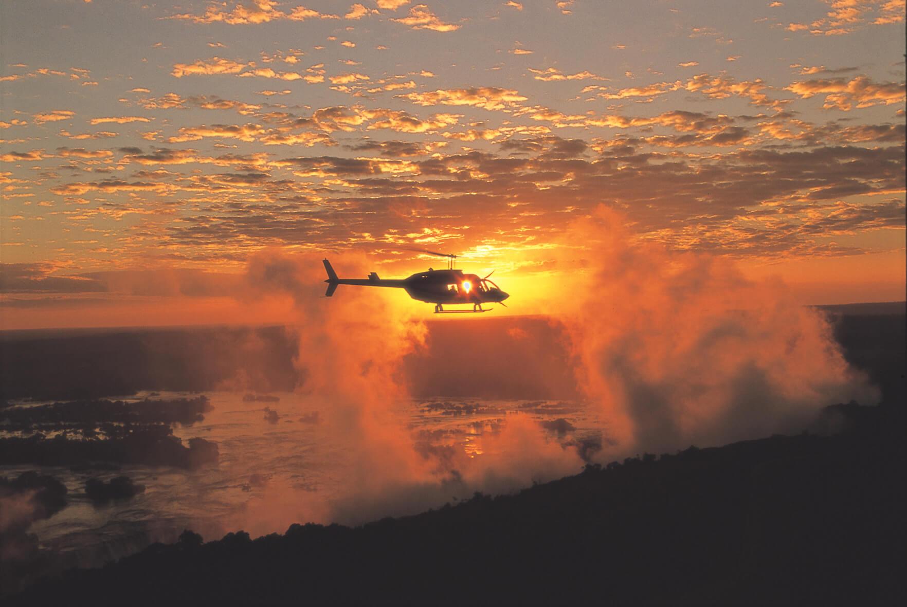 Victoria watervallen - Helicopter vlucht