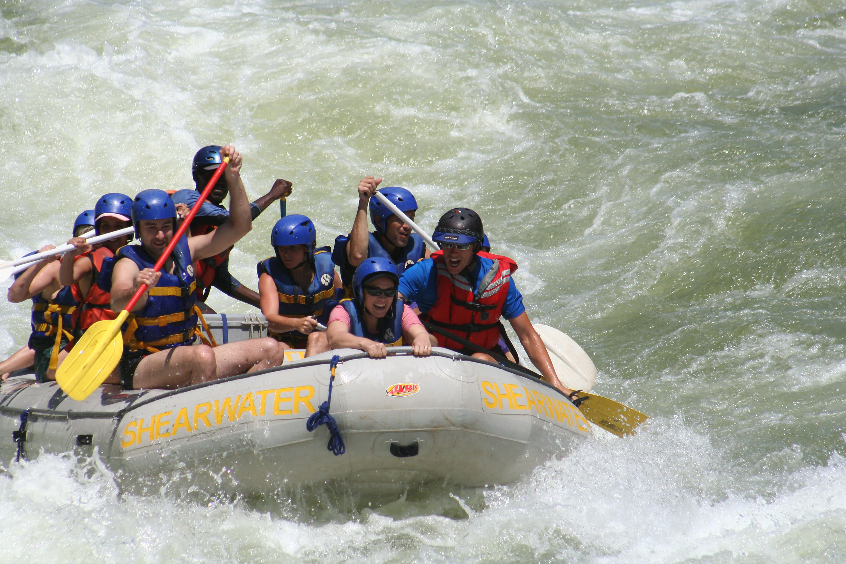 Victoria watervallen - White water raften op Zambezi rivier