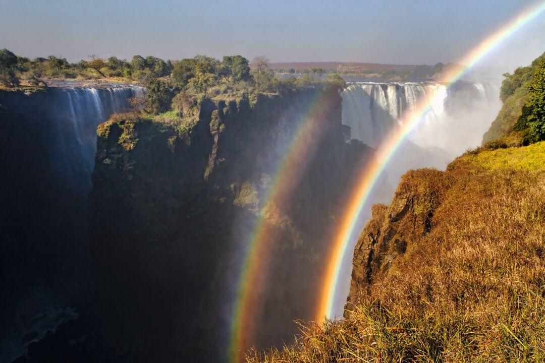 Victoria watervallen in Zimbabwe