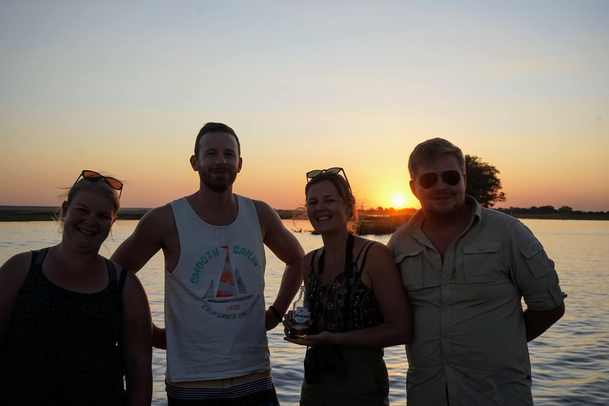 Chobe Riverfront sundowner