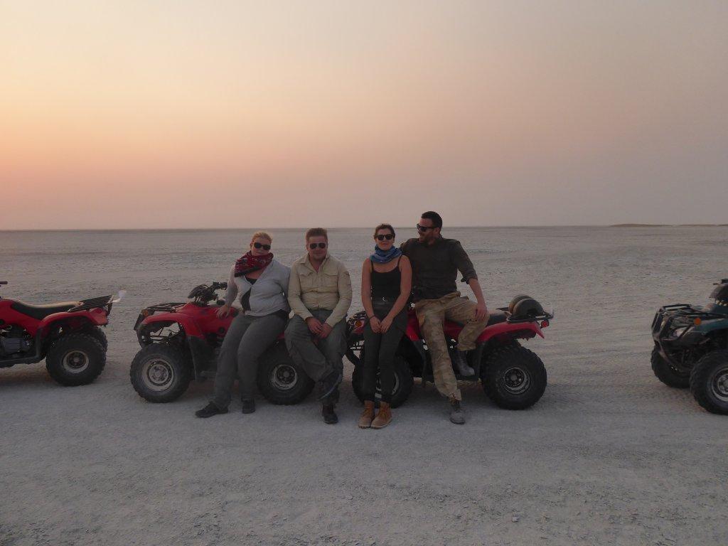 Safari Botswana quad tour op Makgadikgadi Salt Pans