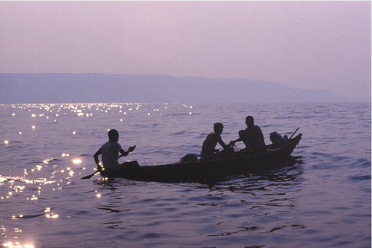 Lake Tanganyika, lokale vissers, Zambia