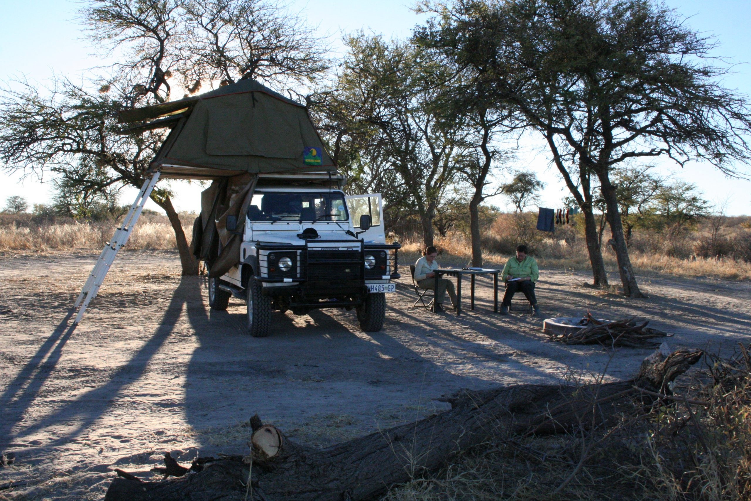 Passarge Valley Campsite, Central Kalahari Game Reserve, Botswana