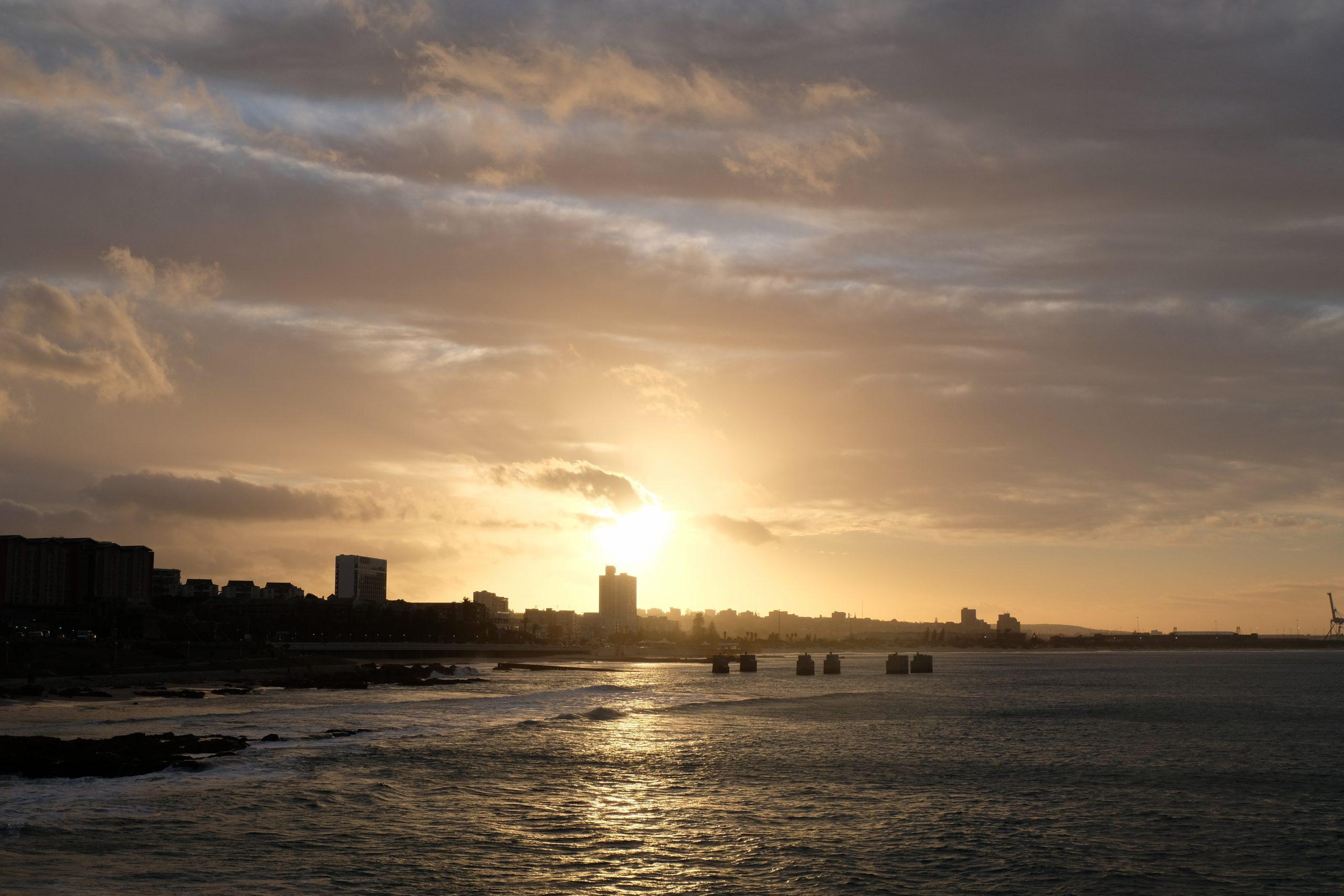 Zonsondergang Port Elizabeth, Zuid-Afrika