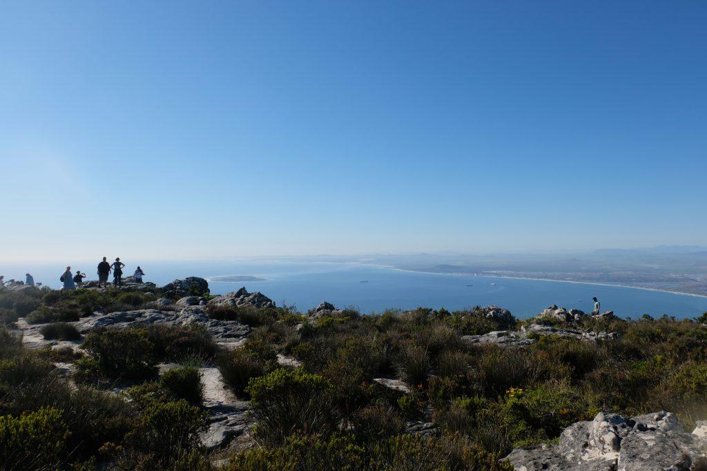 Bovenop de Tafelberg, Kaapstad, Zuid-Afrika