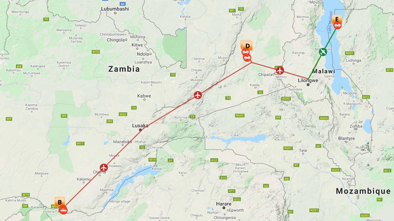 Luxe safari Victoria Falls & South Luangwa - 13 dagen