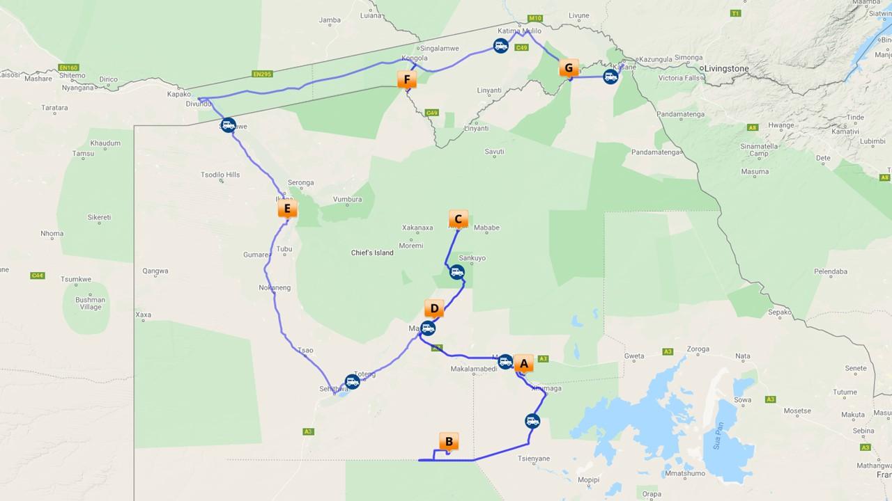 Selfdrive Central Kalahari & Okavango Delta Botswana - 15 dagen