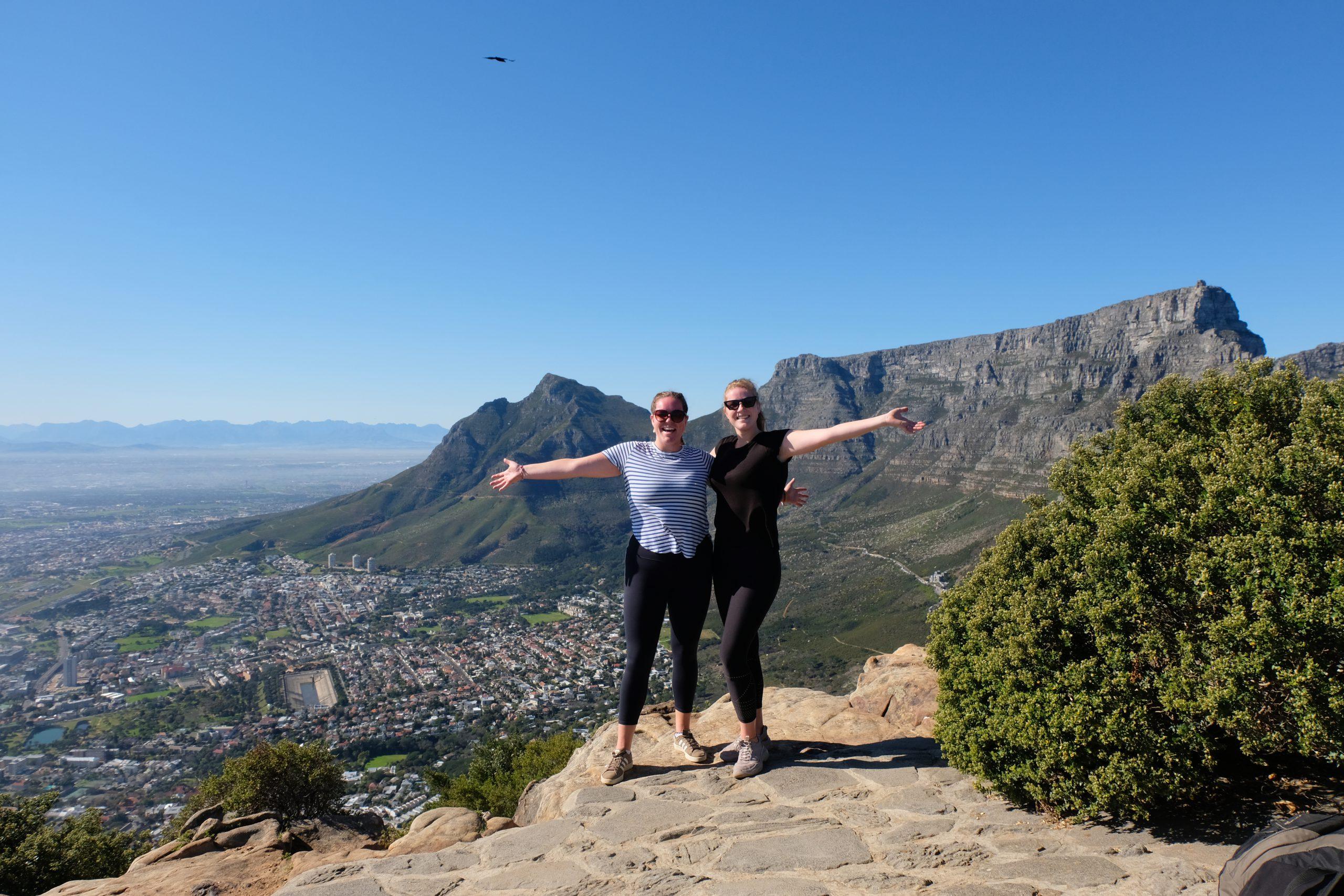 Uitzicht op Tafelberg vanaf Lions Head, Kaapstad, Zuid-Afrika