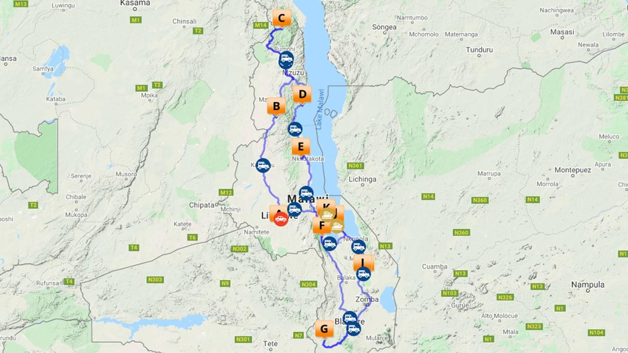 Unieke self drive Malawi - 18 dagen