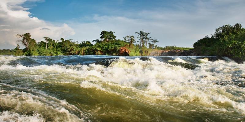 Bron van de Nijl bij Jinja in Uganda