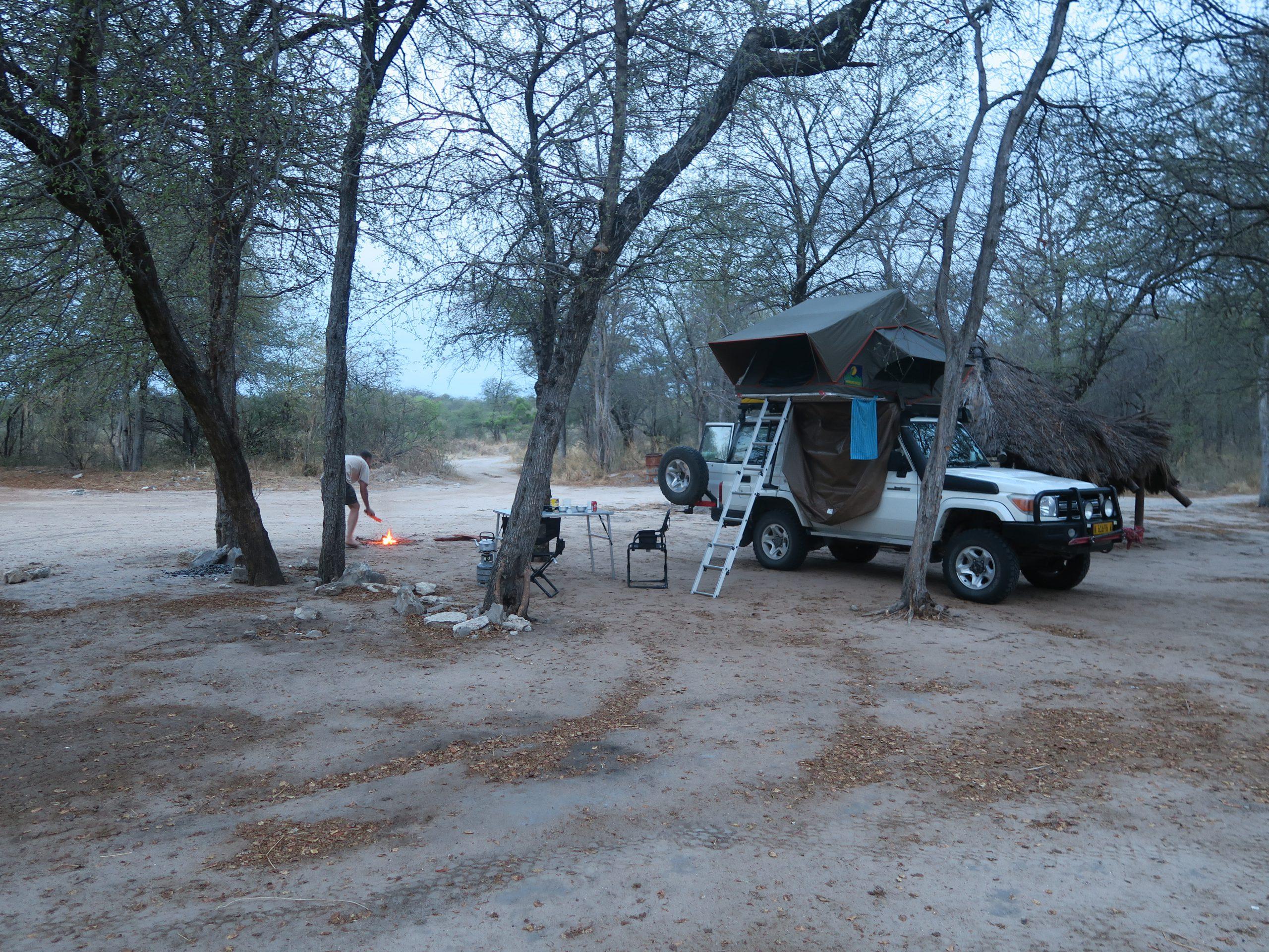Campsite in Khaudum National Park